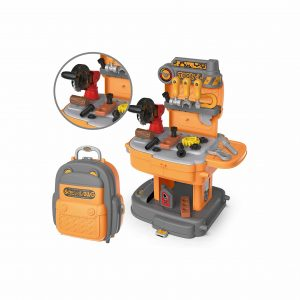 TOYIN Little Tool Workbench with Portable Backpack