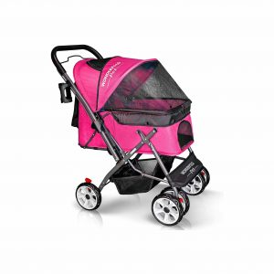WONDERFOLD P1 Folding Pet Stroller with 4 Wheels