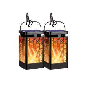 OKEER Hanging LED Solar Lantern Outdoor New Upgraded Solar