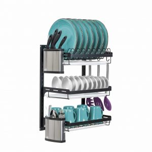 Sorbus 3-Tier Wall Mount Dish Drying Rack