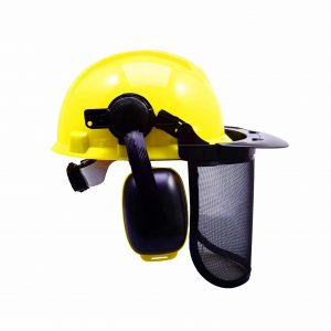 #10. MESTUDIO Yellow Forest Head Protection Forestry Helmet
