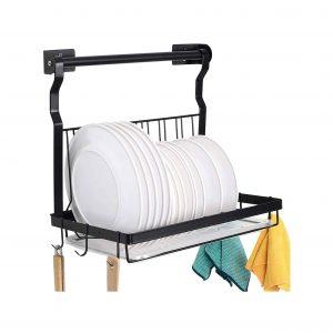 TQVAI Folding Wall Mounted Dish Drying Rack