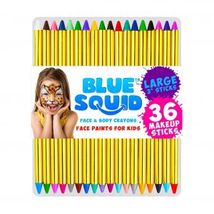 Blue Squid Face Paint Crayon for Kids