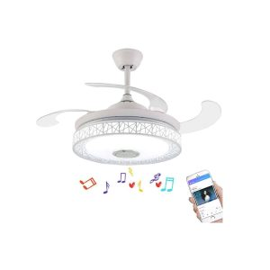 Bluetooth Ceiling Fan with Light and Remote