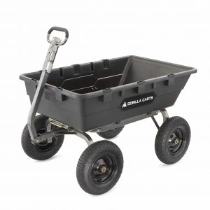 Gorilla Carts Poly Dump Cart