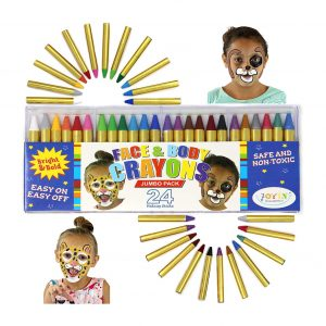 JOYIN 24 Colors Face Paint Safe & Non-toxic Face and Body Crayons