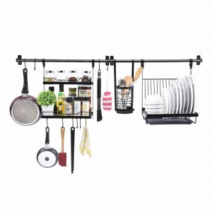 TOOLF 2-Tier Wall Mounted Utensil Drying Rack