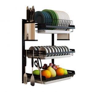 uyoyous Wall Mounted Dish Drying Rack