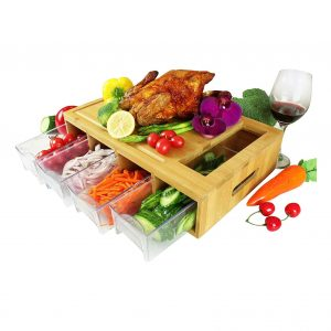 IFELES Cutting Board with 4 drawers