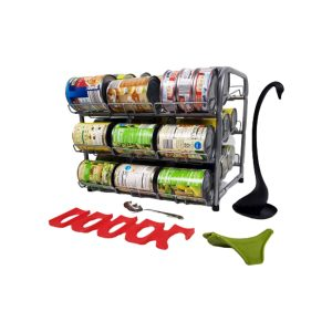 Clayole Stackable Can Rack Organizer