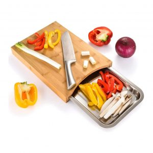 XCSOURCE Cutting Board with Steel Trays