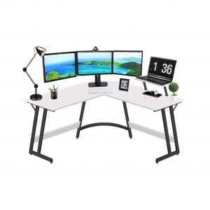LUOSANJI L Shaped Computer Corner Desk