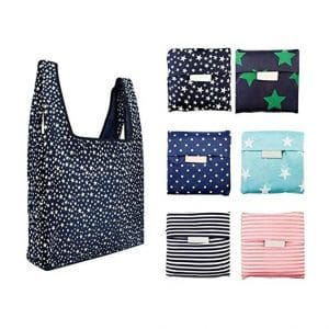 6 Pack Reusable Shopping Bags