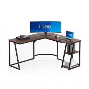 FITUEYES L Shaped Corner Computer Desk