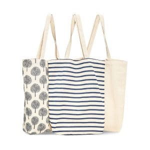 Juvale 3-Pack Reusable Tote Bags