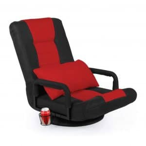STHOUYN 360-Degree Swiveling Gaming Recliner (Red)