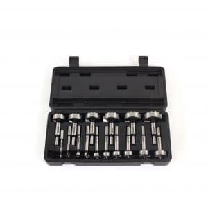 Yonico 41160S 16Pc Steel Forstner Bit Set