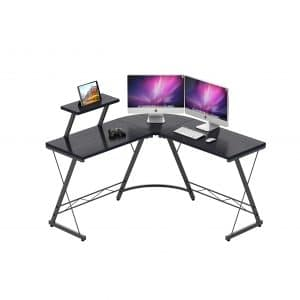 IDEALHOUSE L Shaped Corner Computer Desk