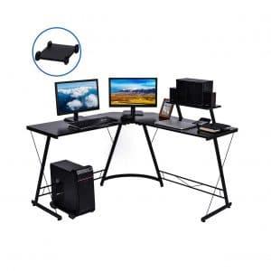 Nidouillet L Shaped 50.8 Inches Corner Computer Desk