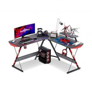 MOTPK L Shaped Gaming Corner Computer Desk