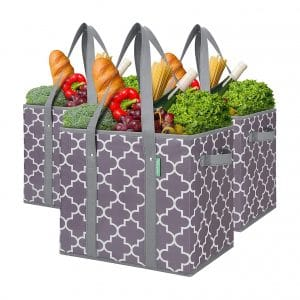 WiseLife 3-Pack Reusable Grocery Bags